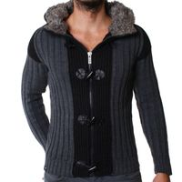 Redbridge Strickjacke PANEL grau-anthrazit R-7137