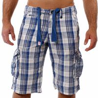 M.O.D by Monopol Shorts BACKYARD marine offwhite checked M.O.D SU11-BS57