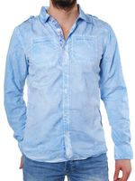 M.O.D Denim Herren Hemd sky blau SP13-MS596