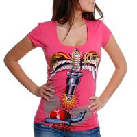 Rerock Damen T-Shirt ELECTRIC 291-2155 rosa