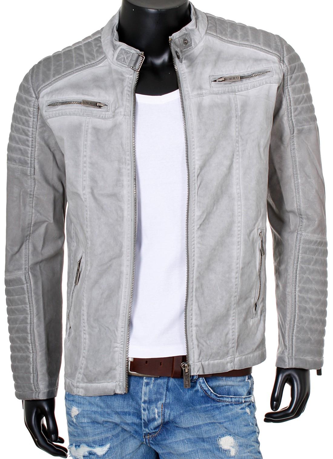 Détails sur Redbridge homme biker veste avec fourrure cuir manches gesteppt transition veste m6011 afficher le titre d'origine