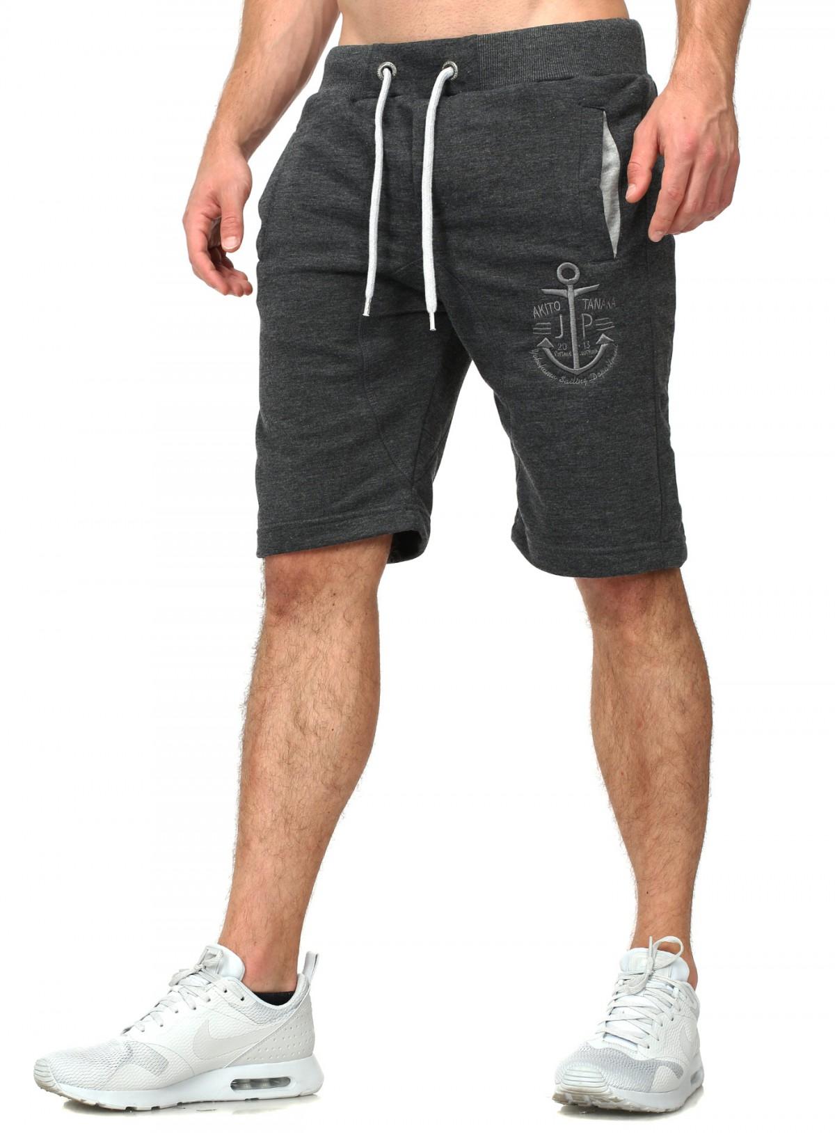 akito tanaka herren shorts mariner kurze sweatpants freizeit jogging trainings sport hose capri. Black Bedroom Furniture Sets. Home Design Ideas