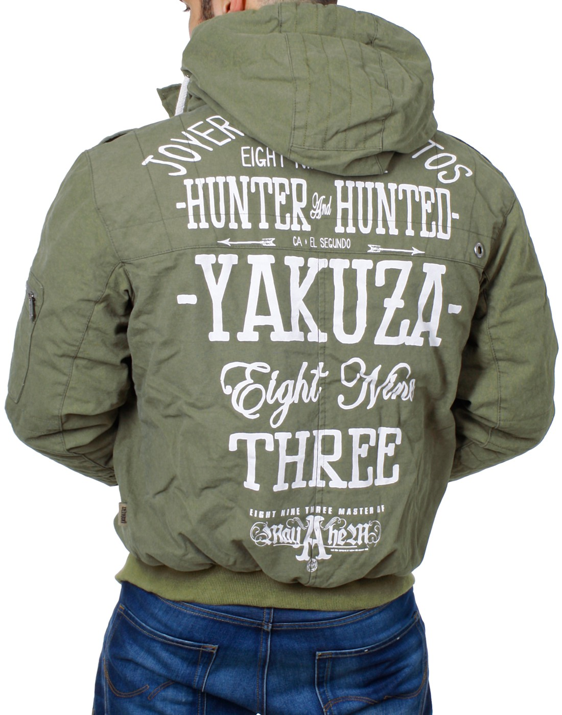 yakuza herren winter jacke bomberjacke hunter and hunted. Black Bedroom Furniture Sets. Home Design Ideas