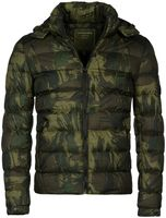 Young & Rich Herren Camouflage Stepp Winter Jacke mit Kapuze Tarn Militär Optik Look Warm gefüttert JK-455