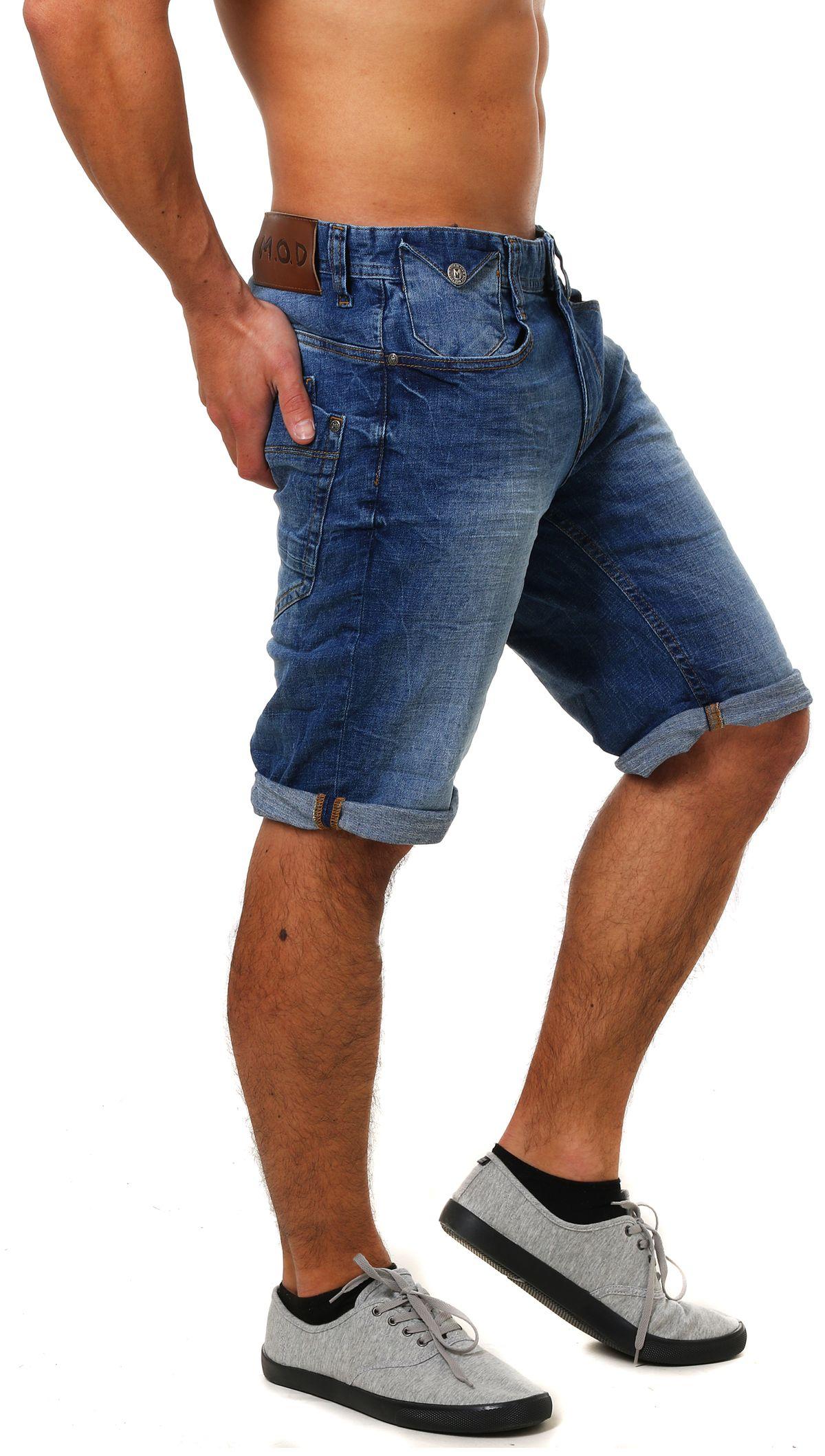 M.O.D Herren Jeans Shorts Joshua kurze Hose Bermuda MOD buffallo blue  sweatpants a0774118e4