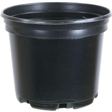 Pflanztopf 13x13x10.5cm Schwarz Rund Kunststoff 1l