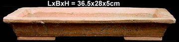 Bonsaischale 36.5x28x5cm Premium Rechteckig Unglasiert