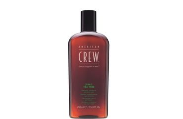 American Crew 3 in 1 Tea Tree Shampoo Conditioner Body Wasch 450 ml