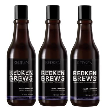 3er Redken 5th Avenue NYC Brews Silver Shampoo 300 ml