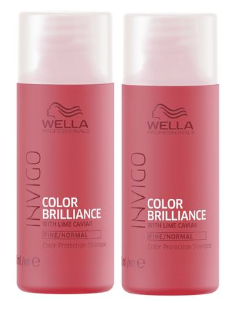 2er Wella Professionals Invigo Color Brilliance Shampoo fein/normal 50 ml