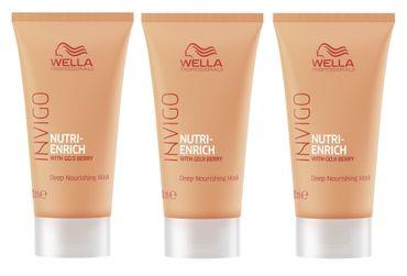 3er Wella Professionals Invigo Nutri Enrich Maske 30 ml