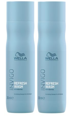 2er Wella Professionals Invigo Refresh Wash Shampoo 250 ml