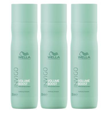 3er Wella Professionals Invigo Volume Boost Shampoo 250 ml