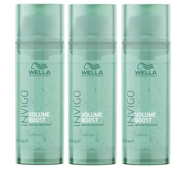 3er Wella Professionals Invigo Volume Boost Maske 145 ml