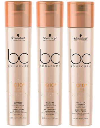 3er Schwarzkopf Professional Bonacure Q10 Time Restore Shampoo 250 ml