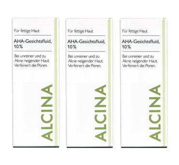 3er Alcina F/M AHA Gesichtsfluid 10% 50 ml