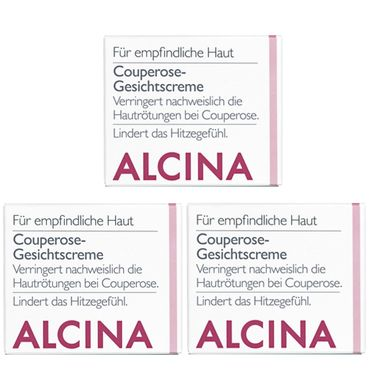 3er Alcina S Couperose Gesichtscreme 50 ml