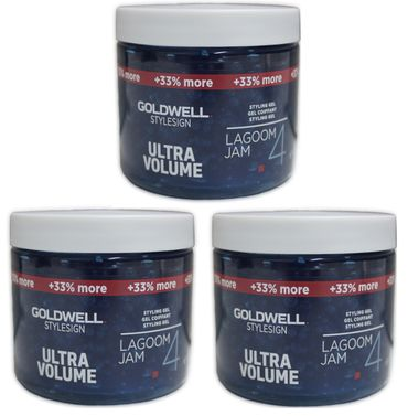 3er Goldwell Stylesign Ultra Volume Lagoom Jam 200 ml