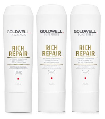 3er Goldwell Dualsenses Rich Repair Aufbau Conditioner 200 ml