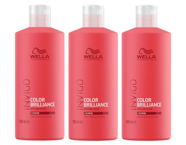 3er Wella Professionals Invigo Color Brilliance Shampoo kräftig 500 ml