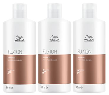 3er Wella Professionals Fusion Intense Repair Shampoo 500 ml