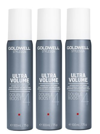 3er Goldwell Stylesign Ultra Volume Double Boost 100 ml