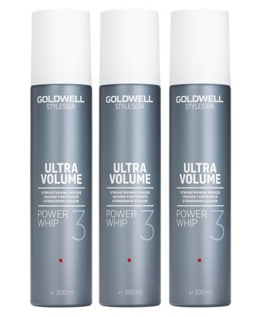 3er Goldwell Stylesign Ultra Volume Power Whip 300 ml
