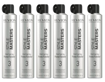 6er Revlon Style Masters Hairspray 3 Photo Finisher 500 ml