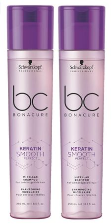 2er Schwarzkopf Bonacure Keratin Smooth Perfect Shampoo 250 ml