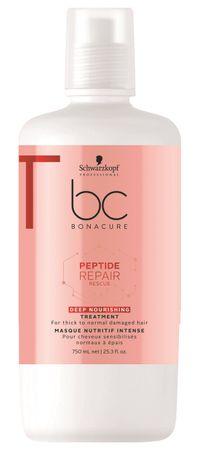 Schwarzkopf Bonacure Peptide Repair Rescue Deep Nourishing Treatment 750 ml