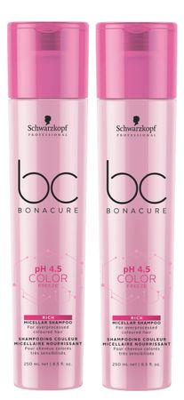 2er Schwarzkopf Professional Bonacure Color Freeze Rich Shampoo 250 ml