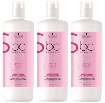 3er Schwarzkopf Professional Bonacure Color Freeze Rich Shampoo 1000 ml