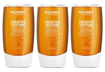 3er Goldwell Stylesign Creative Texture Hardliner 140 ml