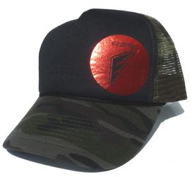 MFC Hawaii Teamrider Base Cap - Round Logo, Black/Camou