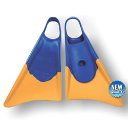 Bodyboard Flosse CHURCHILL Makapuu M Blue Yellow – Bild 1