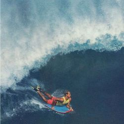 Bodyboard Flosse CHURCHILL Makapuu L Blue Yellow – image 2