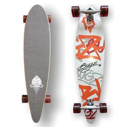 BUGZ Skateboard Longboard Pintail 102 Concave – Bild 1