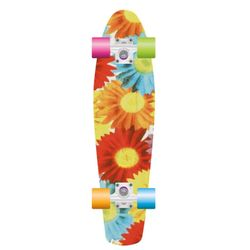 PROHIBITION Retro Plastic Skateboard 22.5 Sunflowe