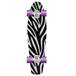 PROHIBITION Retro Plastic Skateboard 28 Zebra 2