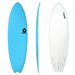 Surfboard TORQ Softboard 6.6 Fish Blue – Bild 1