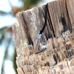 Silver+Surf Silber Schmuck Anker XL Wood Halsband – Bild 4