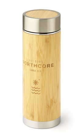 Northcore Bamboo Stainless Steel Thermos Flask 360ml Surf