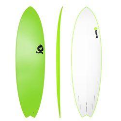 Surfboard TORQ Softboard 6.10 Fish Grün – Bild 1