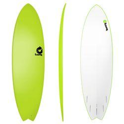 Surfboard TORQ Softboard 6.3 Fish Grün