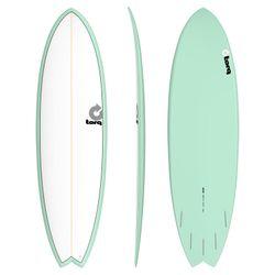 Surfboard TORQ Epoxy TET 6.3 Fish White Seagreen – Bild 1