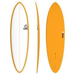 Surfboard TORQ Epoxy TET 6.8 Funboard White Orange – Bild 1
