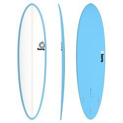 Surfboard TORQ Epoxy TET 7.2 Funboard White Blue – Bild 1