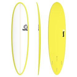 Surfboard TORQ Epoxy TET 7.6 Funboard White Yellow – image 1