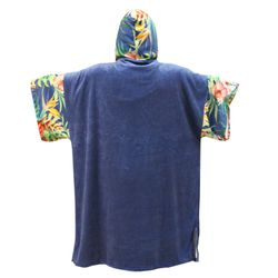 MADNESS Change Robe Poncho Unisize Navy-Flower – Bild 2