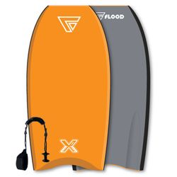 FLOOD Bodyboard Dynamx Stringer 41 Orange-Grau
